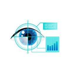 Human eye biometric iris scan security for vector