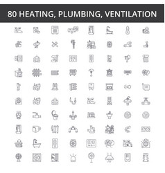 Hvac heating air conditioning ventilation vector