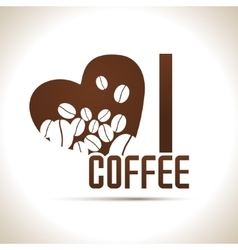 I love coffee background vector