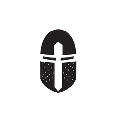 iron helmet medieval knight icon vector image