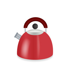 Kitchen appliances red electric kettle vector