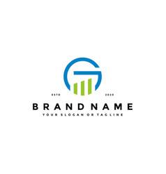 Letter g financial logo design concept vector