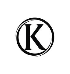 letter k modern vector image
