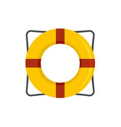 Life buoy icon flat style vector