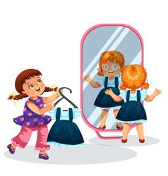 little pupils in school shop poster vector image