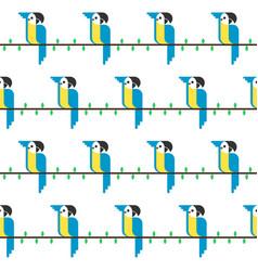 Macaw parrot parrot bird icon in vector