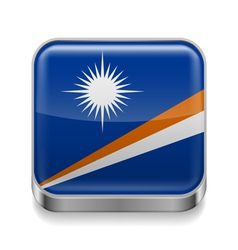 Metal icon of Marshall Islands vector image