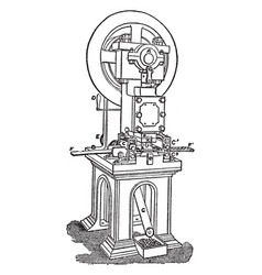 minting cutting machine for coins vintage vector image