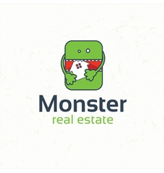 Monster real estate vector