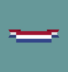 Netherlands flag ribbon isolated dutch tape vector