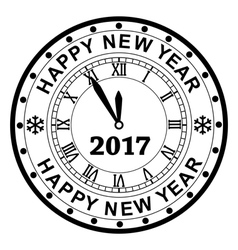 New year 2017 rubber stamp vector