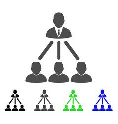 People organization structure flat icon vector
