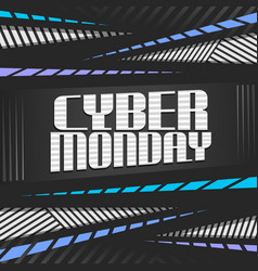poster for cyber monday vector image