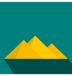 Pyramids of Egypt icon flat style vector