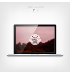 Responsive hipster travel web design Adaptive vector image