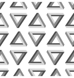 Seamless Impossible Triangle Pattern vector