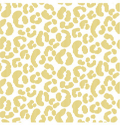 seamless leopard stroked pattern simple vector image
