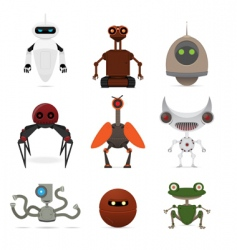 Set of different robots vector