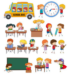 Set of student activity vector