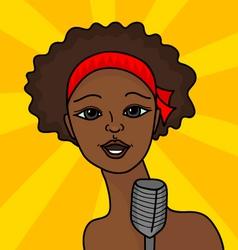 Singing woman vector