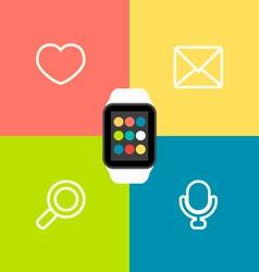 Smart Watch Flat vector image