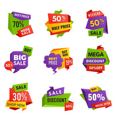 special offer tags discount ads banners best vector image
