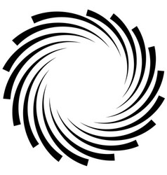 Spiral element concentric swirling shape with vector