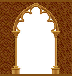 stone gothic gate with classic decorative vector image