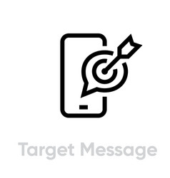 target message personal targeting icon editable vector image
