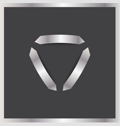 three arrows logo abstract triangle vector image