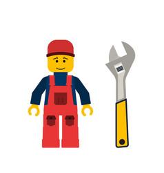Tools allen wrench flat vector