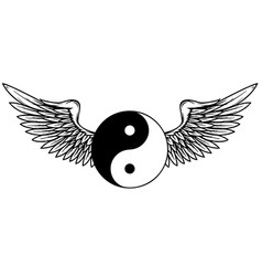 Traditional chinese yin-yang symbol with white vector