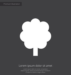 tree premium icon white on dark background vector image