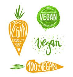 Vegan set vector