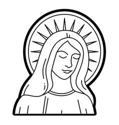 virgin mary statue catholic vector image