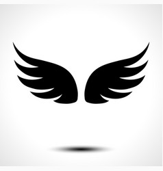Wings icon isolated on white background vector