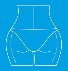 Woman body ready for liposuction operation icon vector
