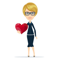 Woman with the heart vector