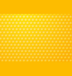 yellow background motive bee honeycombs vector image