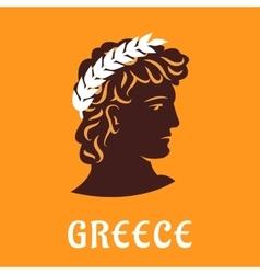 Ancient greek athlete in winner olive wreath vector image