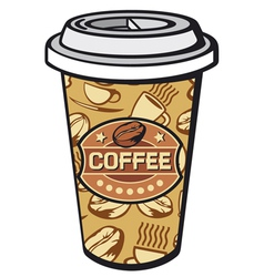paper cup of coffee vector image vector image
