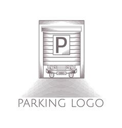 parking garage icon with text vector image