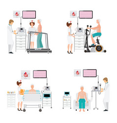 ecg test or exercise stress test for heart vector image vector image