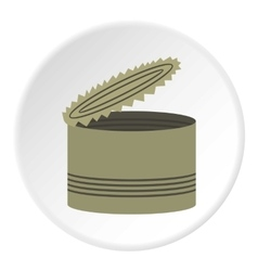 Opened can icon flat style vector