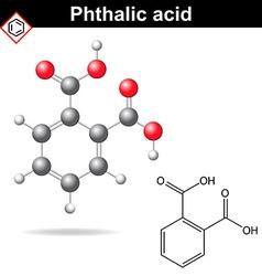 Phthalic acid molecule vector image