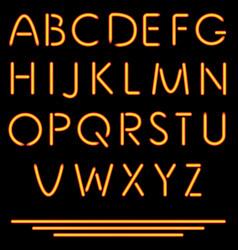 Realistic Neon Tube Letters Neon Alphabet vector image