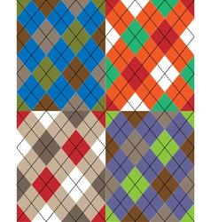 scottish seamless texture vector image