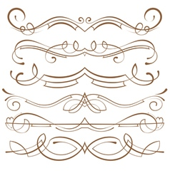set calligraphic design elements and page vector image vector image