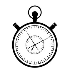 stopwatch on a white background vector image vector image