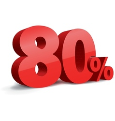 80 percent vector image vector image